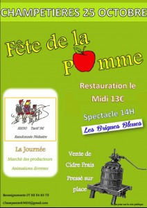Affiche Champetieres pomme 2015