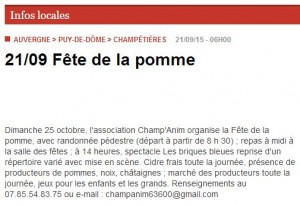 Annonce champetieres